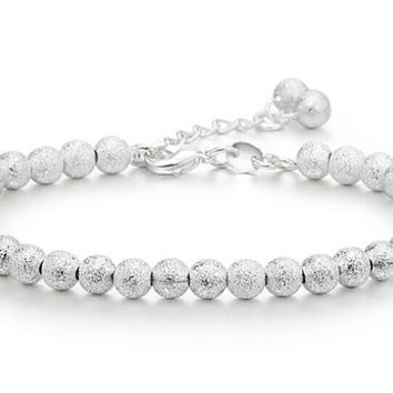 Trend Accessories 925 Pure Silver Bracelet 5MM Beads Bracelet Ball Chain Bracelet for Women Factory Price The Gifts
