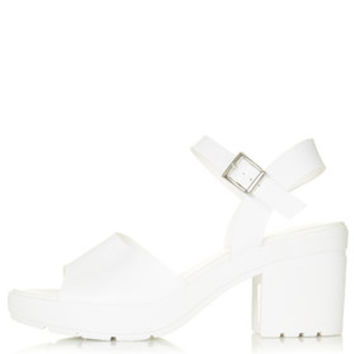HETTY Cleated Sole Sandals - White