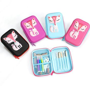 fox pencil case EVA kalem kutusu unicorn Cartoon school supplies estuche escolar pencilcase trousse scolaire stylo papelaria