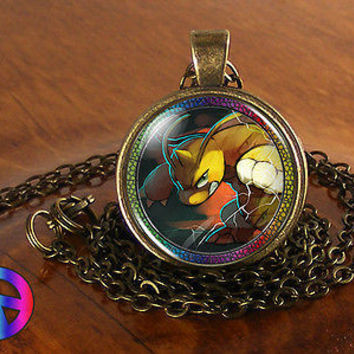 Pokemon DRAGONITE Necklace Pendant Figure Jewelry Cosplay Toy Boys Girls Gift