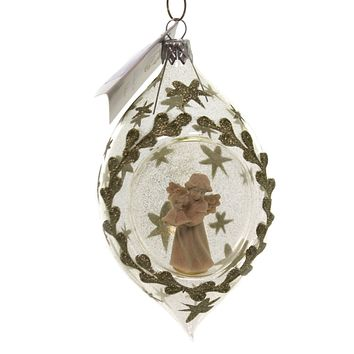Golden Bell Collection ANGEL IN  ORNAMENT Glass Christmas Sea005 Drop