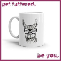COMO TE LLAMA...seize your day by the balls...  full color dishwasher safe printed ceramic mug with attitude