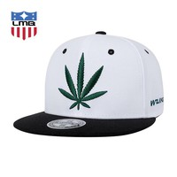 Embroidered Weed Leaf CannaSnap - Adjustable Snapback Dope Hat