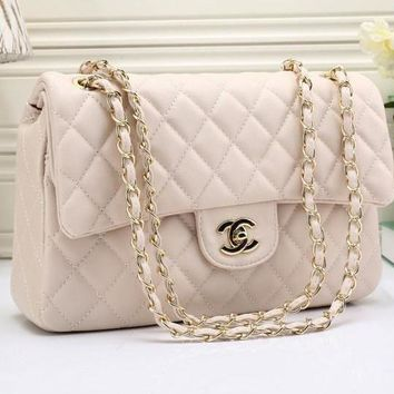 CHANEL Women Denim Shopping Chain Shoulder Bag Satchel Crossbody