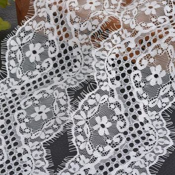 2pcs(/pc) White Mesh Fabric Lace Ribbon Diy Accessories Wedding Party Supplies 10cm Width Embroidered Lace Ribbon Bilateral