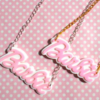 Pastel Barbie name necklace