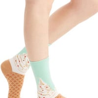Darling To Each Her Cone Socks by ModCloth