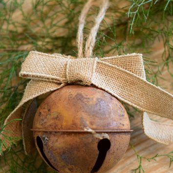 Vintage Rustic Jingle Bell Ornament