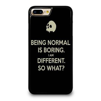 NORMAL IS BORING QUOTES iPhone 4/4S 5/5S/SE 5C 6/6S 7 8 Plus X Case