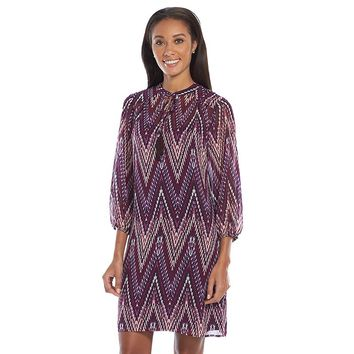 Jessica Howard Chevron Shift Dress - Women's, Size: