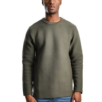 "Bellfield ""Spink"" Structured Knit Jumper - Khaki"