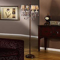 Clarissa Tea Crystal Floor Lamp | Overstock.com