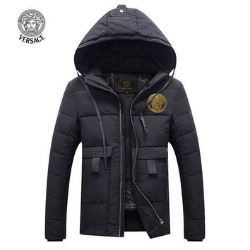 Versace Fashion Down Cardigan Jacket Coat Hoodie-5
