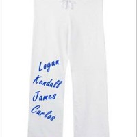 Big Time Rush Members Cute Sweatpants White Size Small