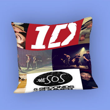 1D and 5SOS for Pillow Case, Pillow Cover, Custom Pillow Case **