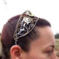 Steampunk Wire Wrap and Watch Movement Tiara