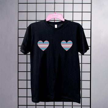 Trans Hearts Boobs Pride Shirt