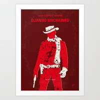 No184 My Django Unchained minimal movie poster Art Print by Chungkong