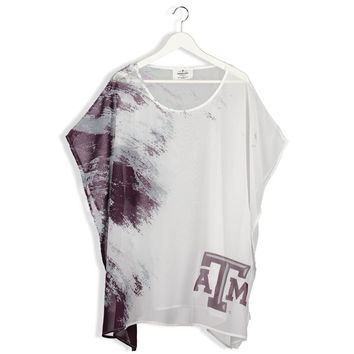 Texas A&M Aggies Women's Sheer Tunic Top - Maroon