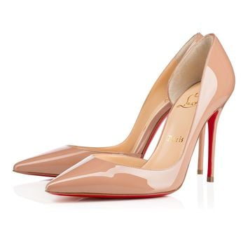 Iriza 100 Nude Patent Leather - Women Shoes - Christian Louboutin