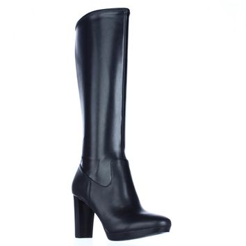 Nine West Krayzie Knee High Platform Boots, Black, 5.5 US