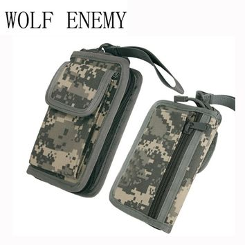 New Arrival Stylish Men's Nylon Military Tactical Wallet Zipper 5 Colors Army Green ACU TAN Black Camo Purse Boys Wallet