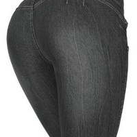 Silver Diva DJ1265-B Colombian style Sexy Stretch Butt lifting Skinny jeans