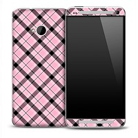 Pink Plaid Skin for the HTC One Phone