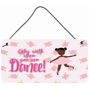 Ballet African American Pigtails Wall or Door Hanging Prints BB5382DS812