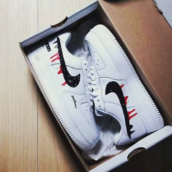 '' NIKE '' Women Men Running Sport Casual Shoes Sneakers Air force White