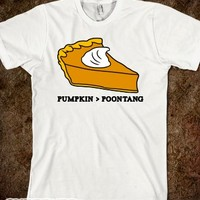 Pumpkin Vs Poontang Pie-Unisex Natural T-Shirt