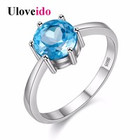 5% Off Girl Gift Silver Cubic Zirconia Ring Female Fashion Engagement Rings for Women Jewelry Anillos Mujer Anel Feminino Y309