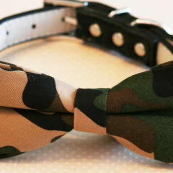 Army Dog Bow Tie attached to collar, Army wedding dog ideas, Dog Lovers