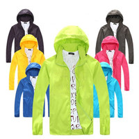Hiking Women Men Unisex Windbreaker UV Protection Fast Quick Dry Waterproof Outdoor Sports Jacket Skinsuit Outerwear Coat _ 2095