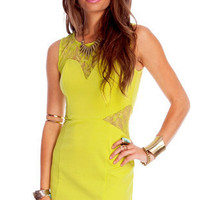 Lacey Tracey Dress in Neon Yellow :: tobi