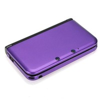 Generic Purple Aluminum Hard Metal Box Cover Case Protector For Nintendo 3DS XL LL