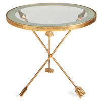 Dickson Side Table, Gold, Standard Side Tables