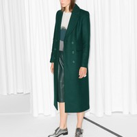 & Other Stories | Long Tailored Coats | Dark Green