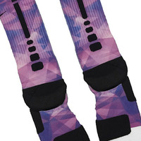 Purple Prism Custom Nike Elite Socks