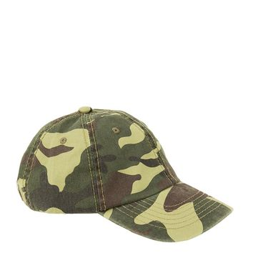 Baseball Hat in Camo, Burgundy and Black