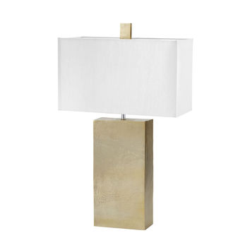 Cement Tower Table Lamp in Gold Gold