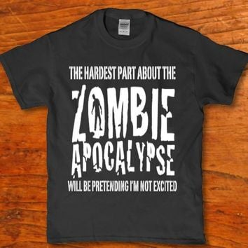 Zombie Apocalypse horror t-shirt for unisex adult New