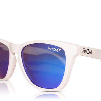 White Polarized Blue Lens