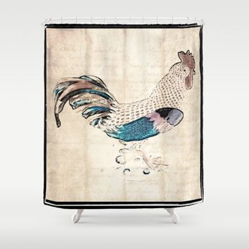 In the kitchen  Shower Curtain by Jessica Ivy
