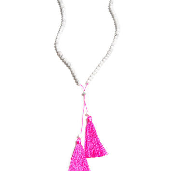 Java Lariat Tassel Necklace
