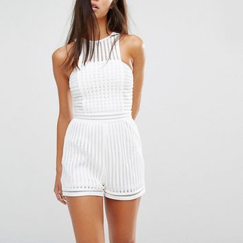 Missguided Mesh Romper at asos.com