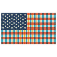 "Nick Nelson's ""Plaid Flag"" wall decal"