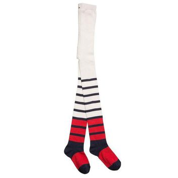 NOV9O2 Junior Gaultier Girls Colorful Striped Tights
