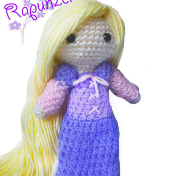 Crochet Doll - Fairytale - Tangled Inspired Rapunzel