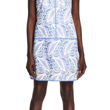 Printed Lace Tank Dress - Adrianna Papell